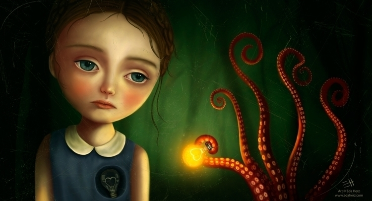 Heartlight - illustration, painting - edaherz | ello