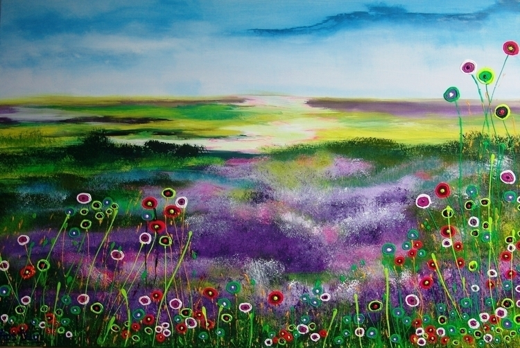 Fields purple. 160 cm. x1000 - paintings - ansduin | ello