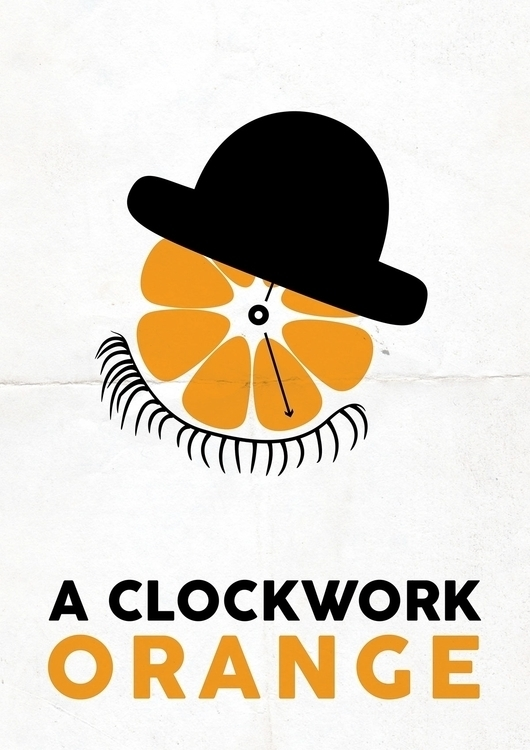 clockwork orange film poster - illustration - ehlinmaria | ello