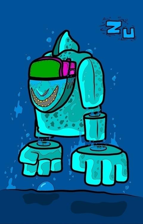 Triton - illustration, characterdesign - kamanyacosta | ello