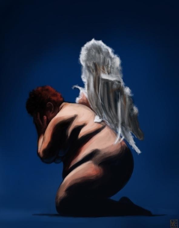 Fat Angel - illustration, painting - mkodaz | ello