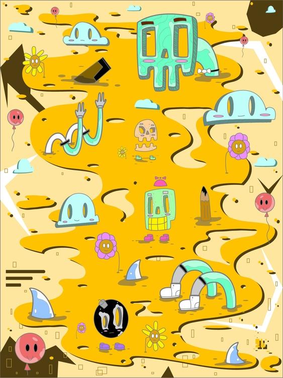 Mundo ilustra - illustration, drawing - kamanyacosta | ello