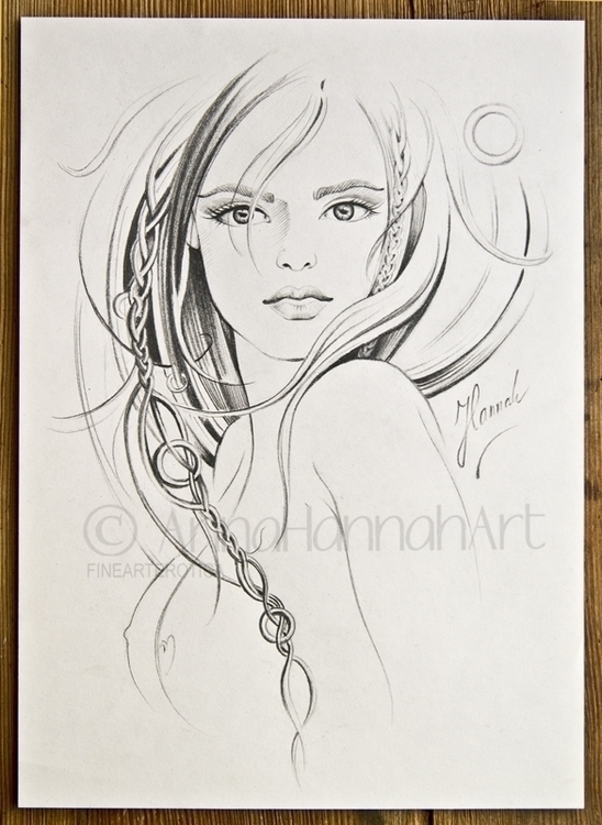 - original pencil drawing - erotic - annahannahart | ello