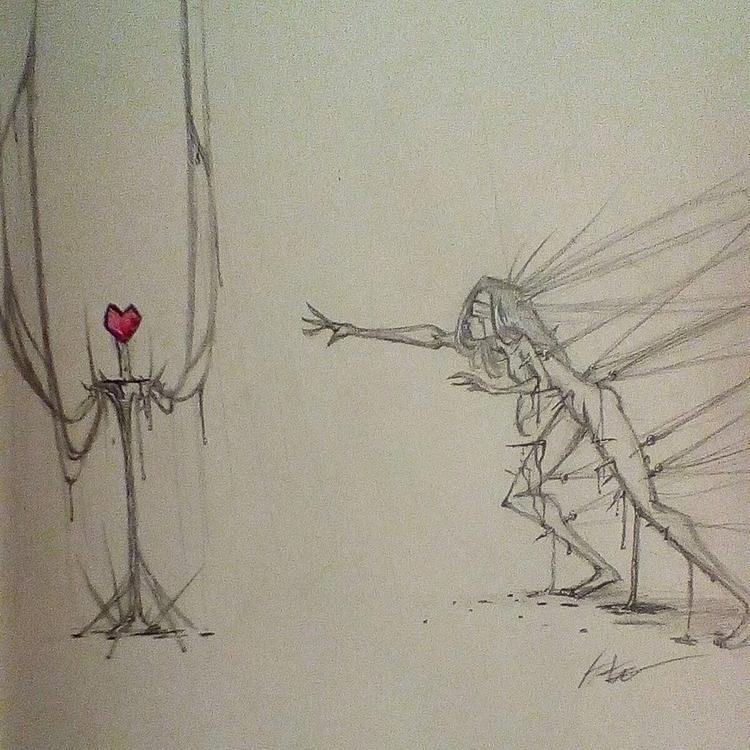 Desperate Desire - sketchbook, love - hasaniwalker   ello