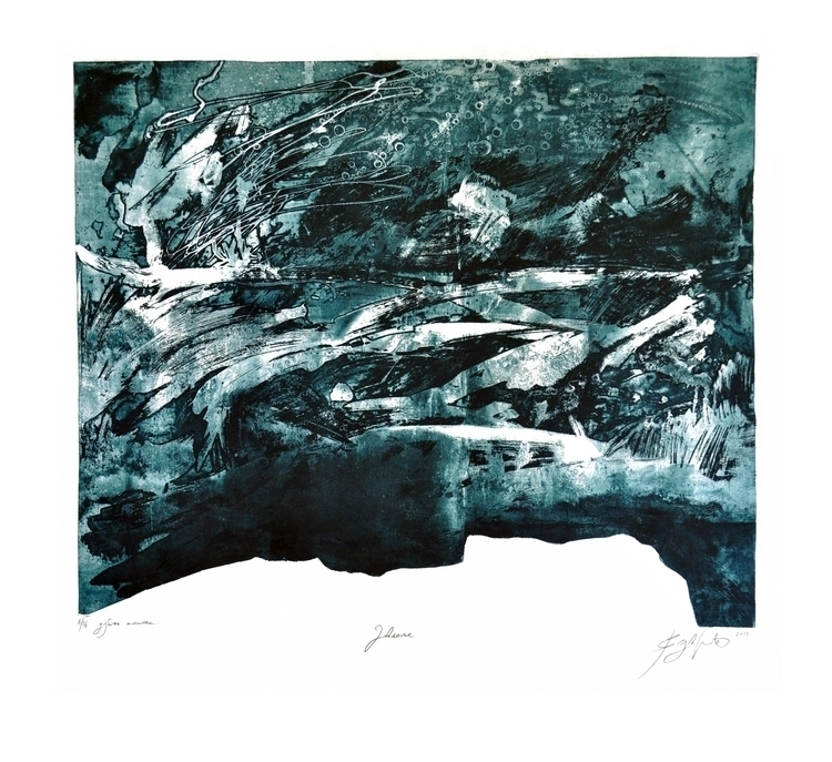 Drowning - etching, aquatint, printmaking - voyanik | ello