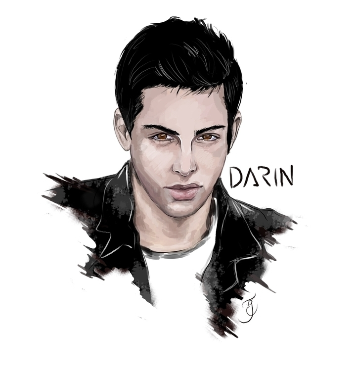 swedish musican called Darin - illustration - ehlinmaria | ello
