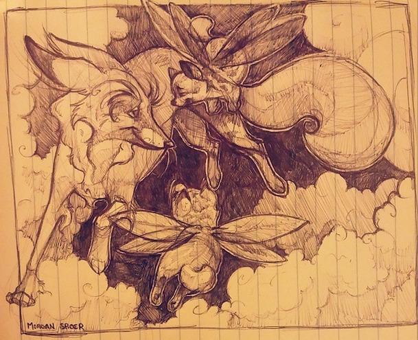 Fox Shiba-inu Fairies - shibainu - barkpointstudio   ello