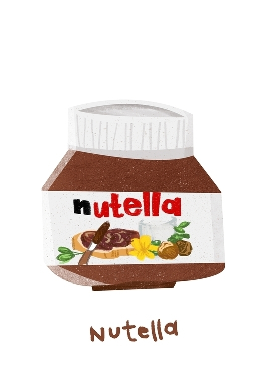 nutella illustration - chocolate - lynhuiong | ello