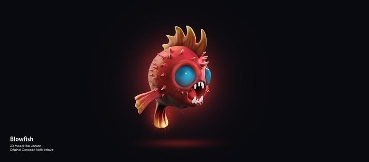 3d, Fish, Zbrush - bas-1355 | ello