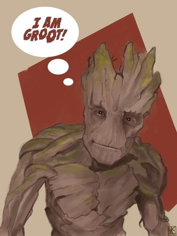Groot - illustration, painting, characterdesign - mkodaz | ello