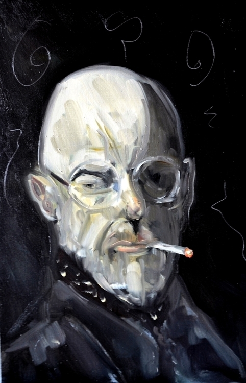 sigmund freud - painting, oilpainting - orduzleon | ello
