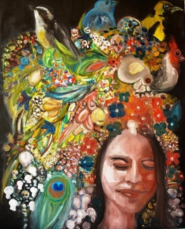 Doña Muerte - painting, oilpainting - orduzleon | ello