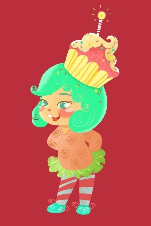 cream cupcake :3 - illustration - shazanarosli | ello