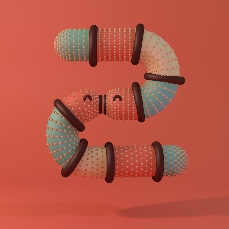 Meet Letter Snuggle font - characterdesign - queenlardcake | ello
