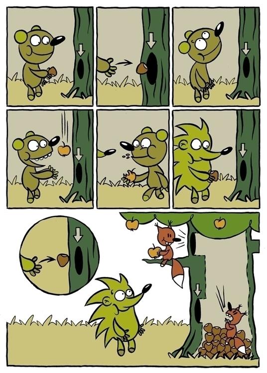 Short comics Fika magazine - animals - piotrnowacki | ello