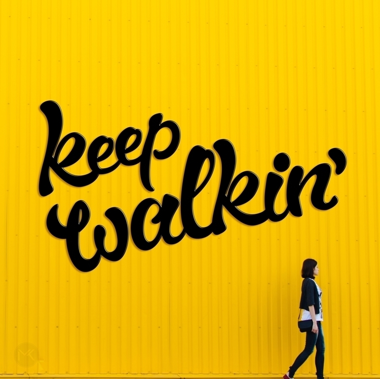 Walkin - unsplash, typography, lettering - marketa_konta | ello