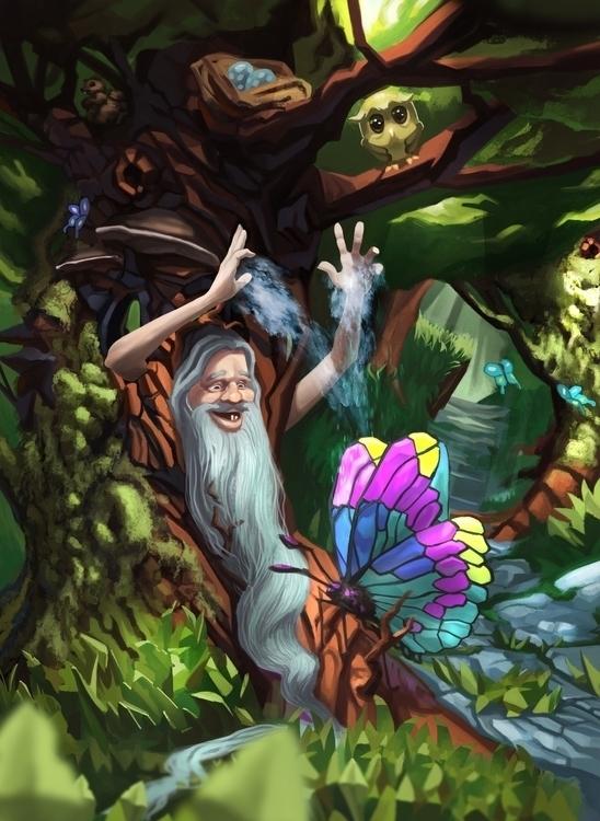 Butterfly forest - illustration - kuumehike | ello