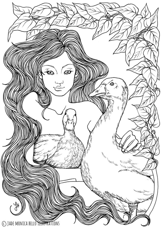 illustration, drawing, duck, goose - jade_ideg | ello