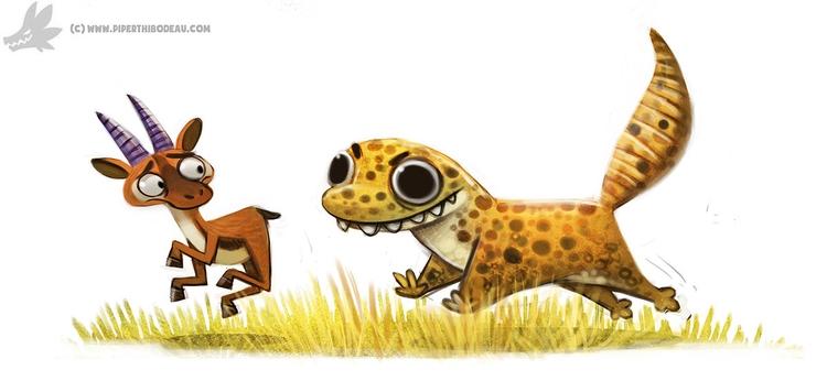 Daily Paint Leopard Gecko (OA - 987. - piperthibodeau   ello