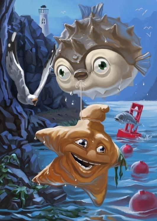 Great Escape - illustration, digitalpainting - kuumehike | ello