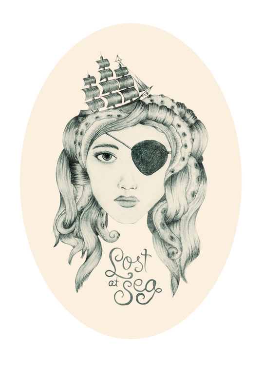 pencil, illustration, sea, lost - hardknoxcreative | ello