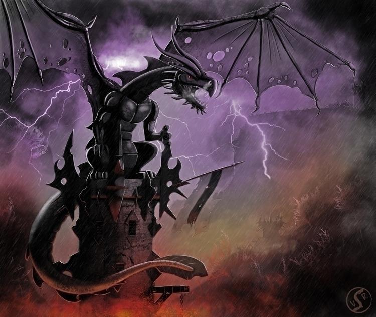 Black Tower dragon Forgotten My - wacko_shirow | ello