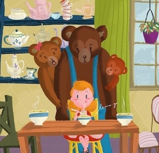 Visiting Bears - illustration, digitalpainting - leannepet   ello