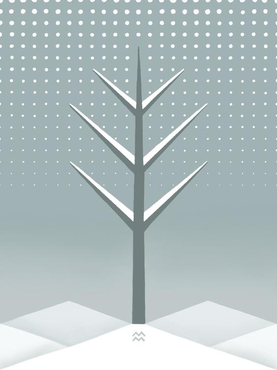 landscape tree: winter - miriamdraws - miriamdraws | ello