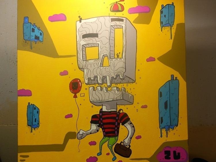skull, dotwork, color, bogota - kamanyacosta | ello