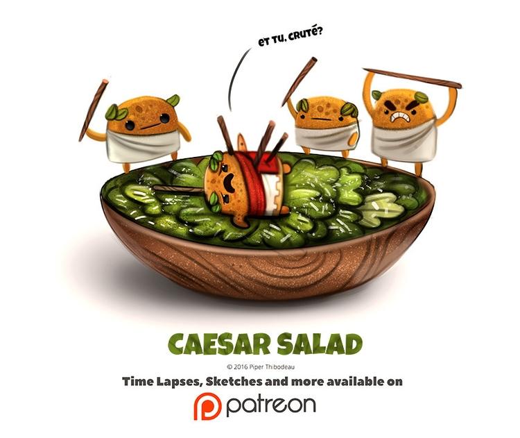 Day 1391. Caesar Salad - piperthibodeau | ello