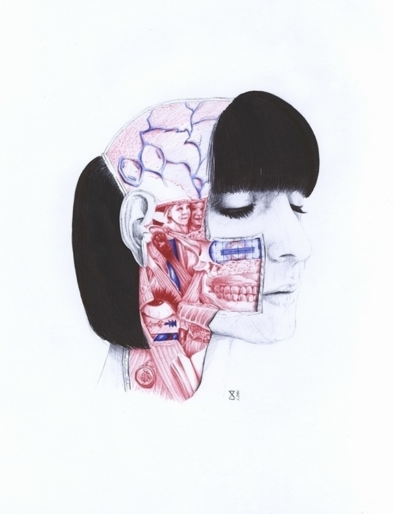 Anatomy - portrait, anatomy, pen - zasa-6052 | ello