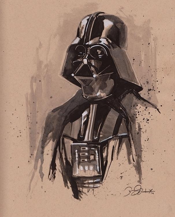 Inktober Oct 23 - Darth Vader - inktober - dannybeckart | ello