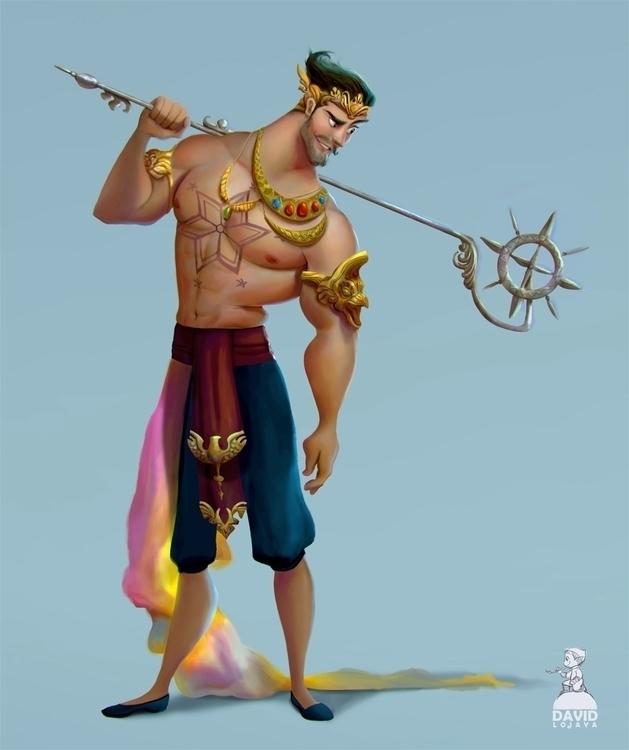 Gatot kaca - characterdesign, muscleman - david_adhinarya_lojaya | ello