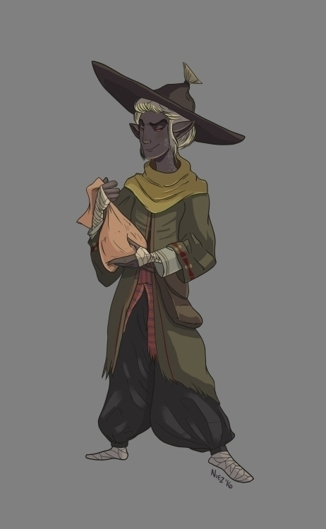 Dunmer Morrowind - illustration - dustlight_ | ello