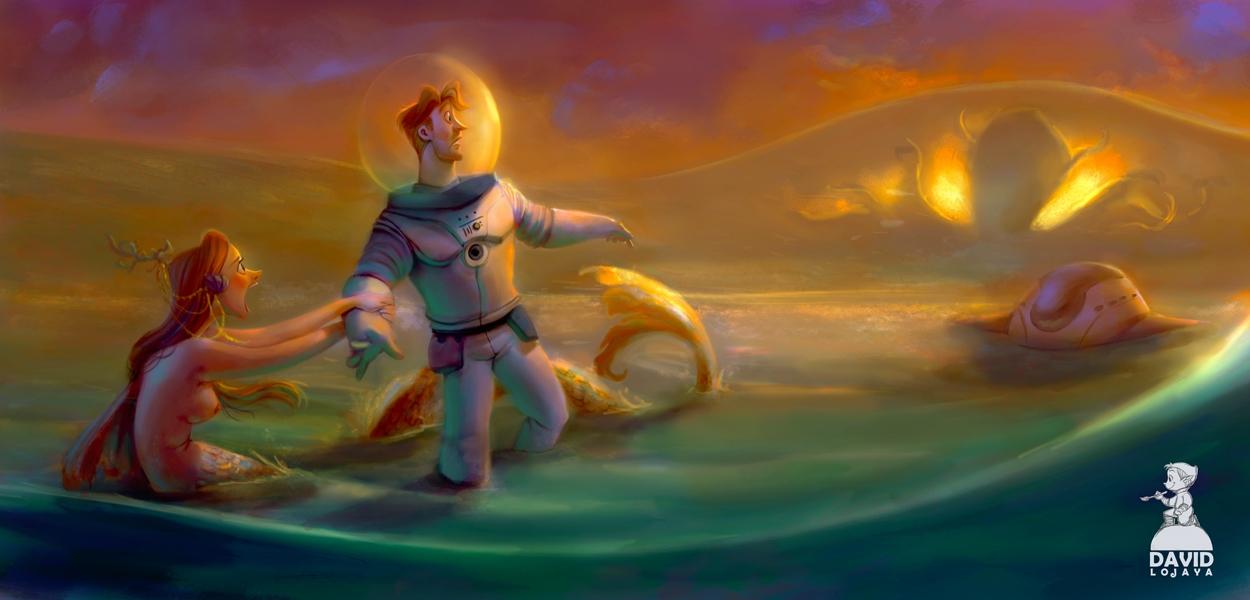 mermaid, astronaut, kraken - david_adhinarya_lojaya | ello