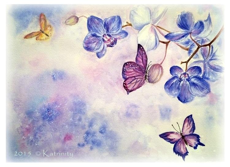 Orchids butterflies - katrinityart - katrinity-1318 | ello
