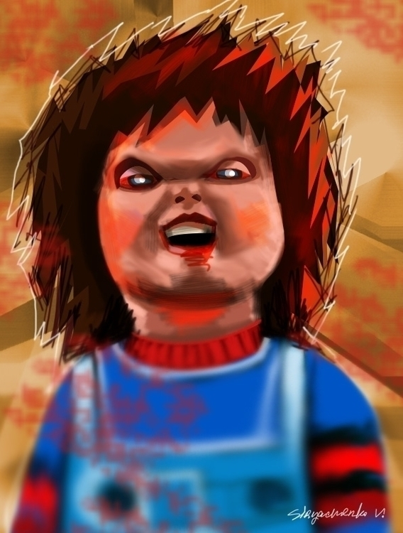 Chucky - illustration, painting - vitalic-1248 | ello