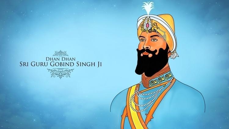 Shri Guru Gobind Singh Ji - painting - aman_d_singh | ello