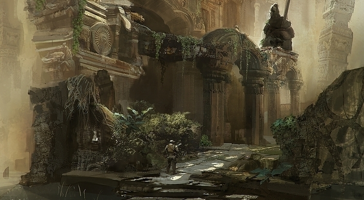 Ruins Endor. progressed sketch - chengeling | ello