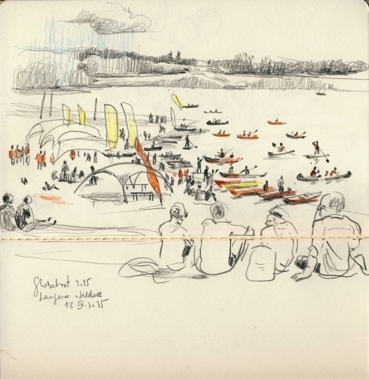 Lake shore festival. Pencil dra - catilustre | ello