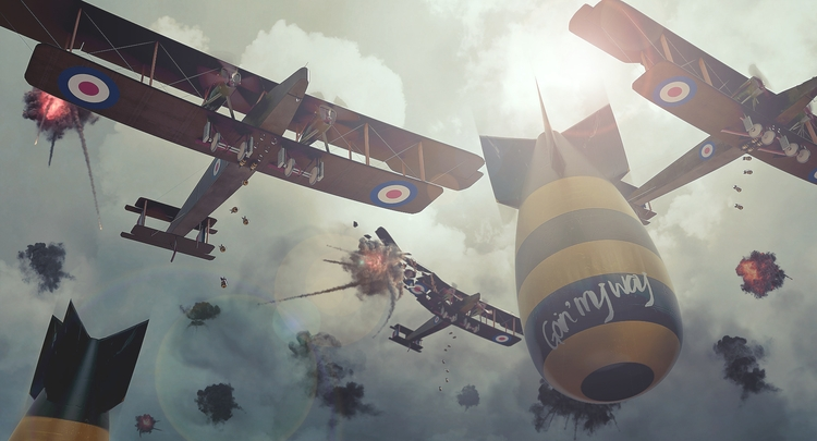 Goin - illustration, 3d, airplane - remytrapp | ello