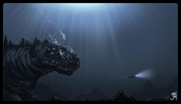 GODZILLA! -speed paint Godzilla - jasonmartin-1263 | ello