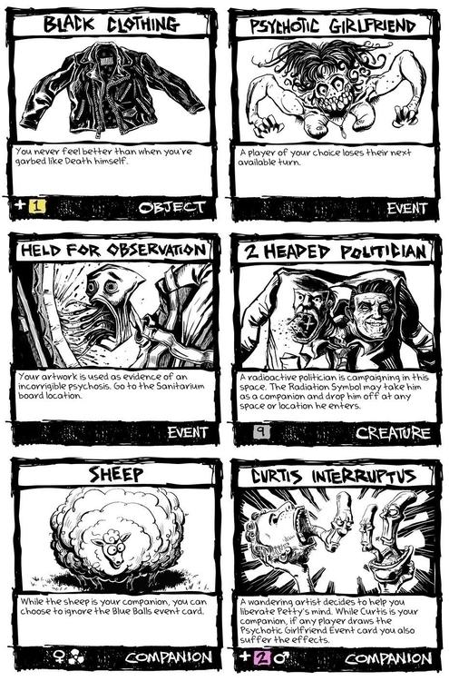 cards Pettyland, slightly odd b - lpetty   ello
