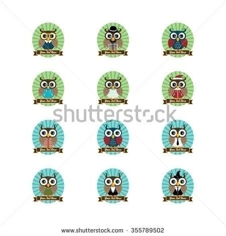 owl collection - illustration - vector1st | ello