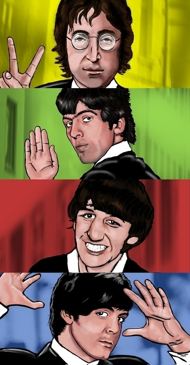 OriginL beatles art pop style - illustration - rigabow | ello