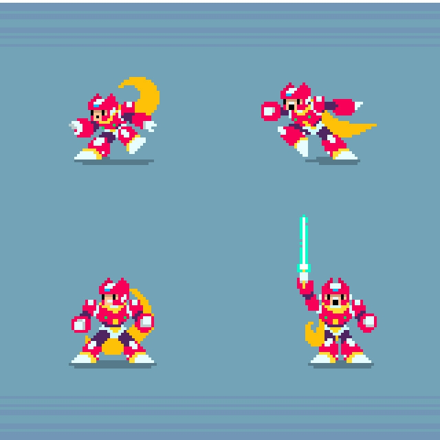 Mega Man - smaller sprites - illustration - planckpixels | ello