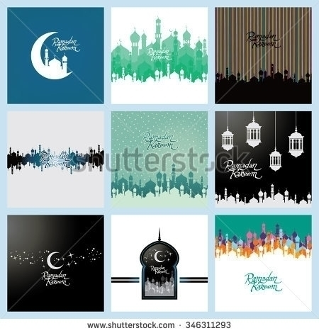 islamic ramadan mubarak - illustration - vector1st | ello