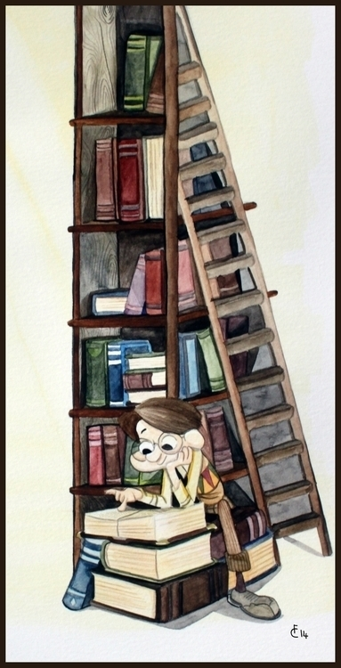 Bookworm - bookworm, illustration - finbarcoyle | ello