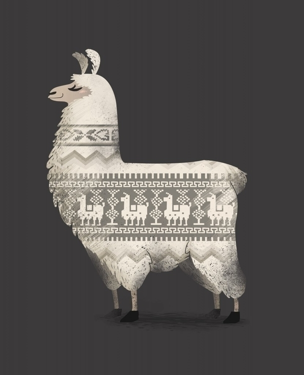 Llamas sweaters! Shiort CottonB - fernandafrick   ello