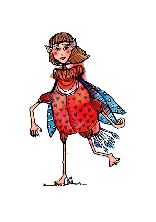 Prim Great Balance - fairy, doodlesmudge - theartoflauren | ello